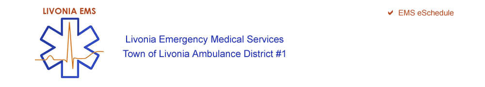 Livonia EMS Livonia Emergency Medical Services, Town of Livonia Ambulance District #1